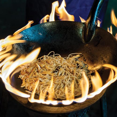 Flame pan